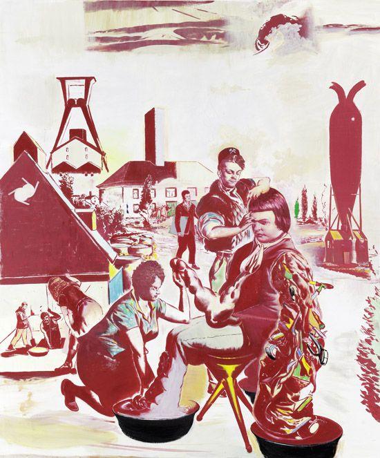 Neo Rauch, Übertage, 2010, Oil on canva
