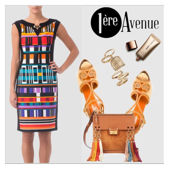 """1ere Avenue"" by deeyanago ❤ liked on Polyvore featuring Joseph Ribkoff, Charlotte Olympia, Chloé, Topshop, Nude by Nature, classy, StreetSyle, summerbrights, premiereavenue and JosephRibkoff"