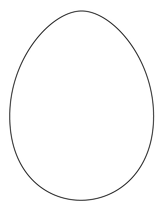 small easter egg template - the gallery for full page easter egg template