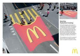 Ad Publicidad Creativa: Guerilla Marketing, Street Art, French Fries, Mcdonald S, Mcdonalds