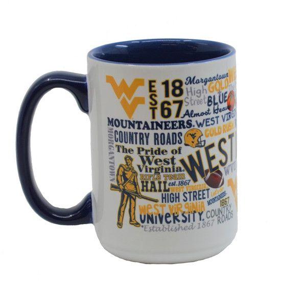 Wvu Campus Wrap Mug Mugs Campus Blue Interior