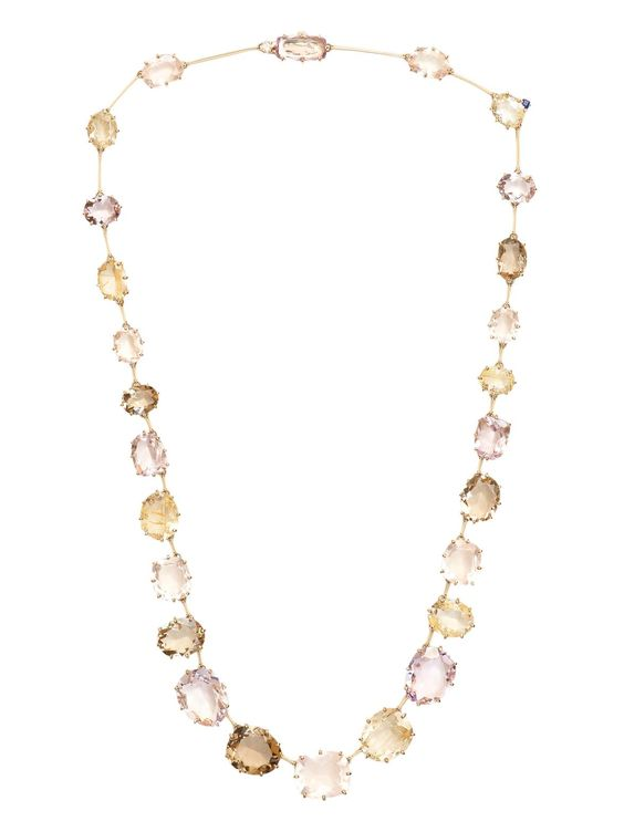 H.Stern 18k Yellow Gold Mixed Stone Necklace at London Jewelers!