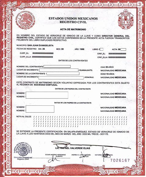 Mexican Marriage Certificate Translation Template Luxury Mexican Marriage Certificate Translation Template Pdf Marriage Certificate Marriage Templates