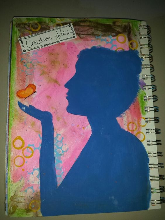 A peek into my Art journal ~ mixed media By Creative Jules