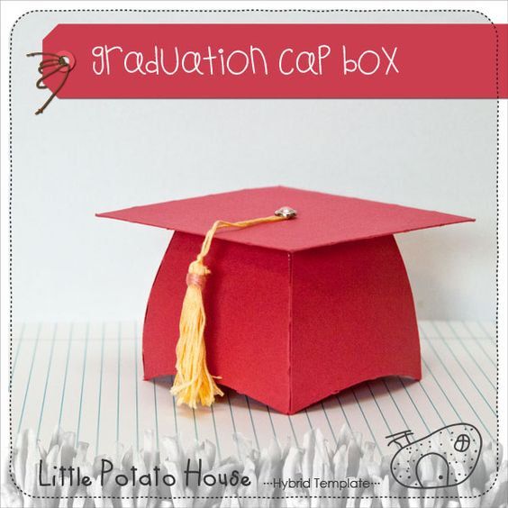 Pin By Caroline Crecelius On Incredible Ideas And Projects To Do Graduation Favors Graduation Cap Box Template