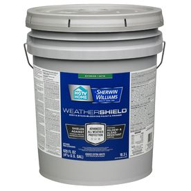 Hgtv Home By Sherwin Williams Weathershield Extra White Satin Exterior Tintable Paint 5 Gallon Lowes Com Hgtv Home By Sherwin Williams Weathershield Exterior Paint
