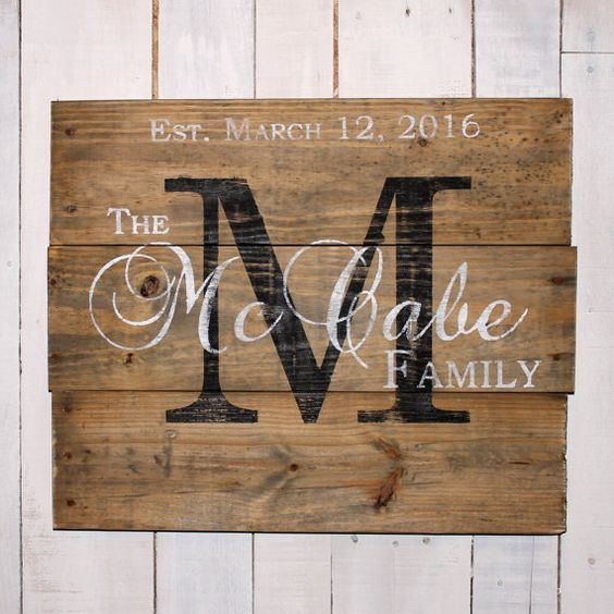 Custom Wedding Gift Custom Name Sign by EverydayCreationsJen