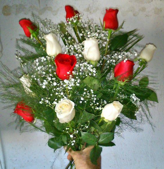 Image result for rosas blancas y rojas
