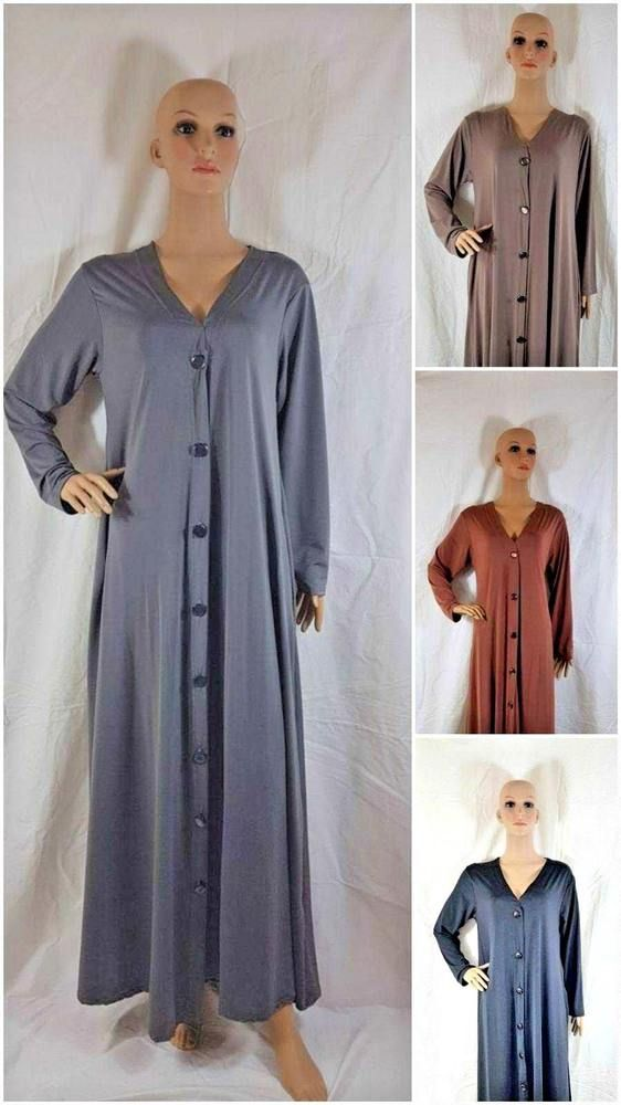 Rib Girls Black Abaya Dress Plain Madrasah,School Kids Age 2-13 Years Pockets In