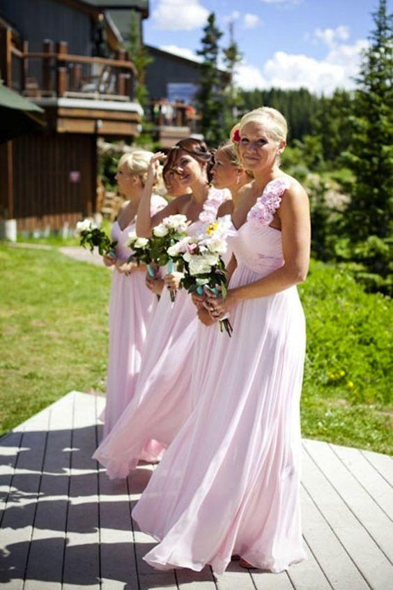 Love the soft pink: Pink Bridesmaid, Wedding Idea, Bridesmaids Dresse, Pretty Bridesmaid, Pink Dress