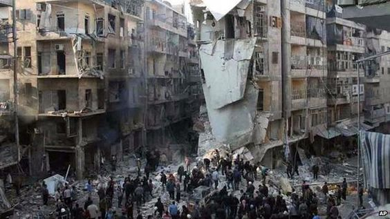 the rescuers of those trapped in the rubble are those who are not.  aleppo syria