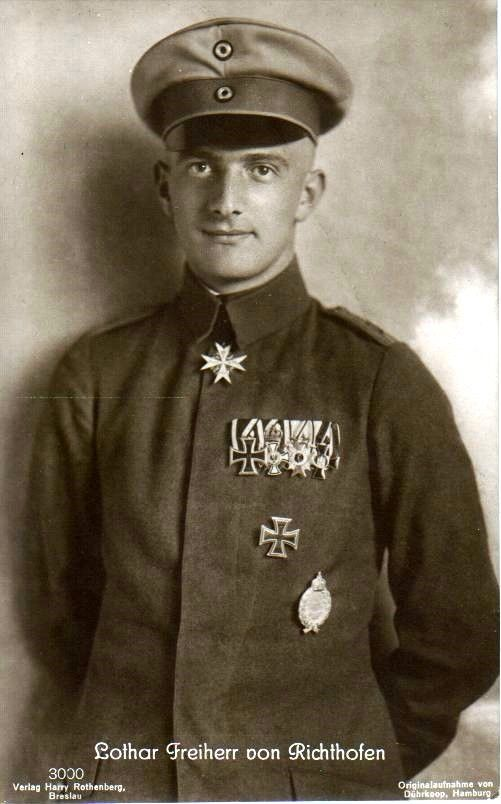 Oberleutnant Lothar Freiherr von Richthofen --- 40 victories. - Bio: http://www.theaerodrome.com/aces/germany/richthofen1.php