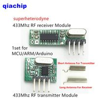 1set RF module 433 Mhz superheterodyne receiver and transmitter Support ASK OOK small size low power kit For Arduino/ARM/MCU                  USD 1.98/pairUSD 2.50/pieceUSD 7.99/setUSD 1.25/pieceUSD 0.99/setUSD 7.60/setUSD 2.50/pieceUSD 9.20/piece  1set RF module 433 Mhz superheterodyne receiver and transmitter Support ASK OOK small size low power kit For Arduino/ARM/MCU    Package Included:    Receiver module    * 1pcs      ...    US $1.98…