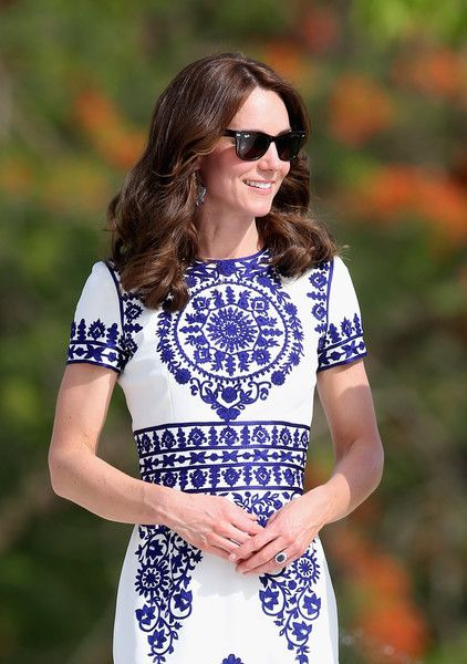Catherine, Duchess of Cambridge walks in front of the Taj Mahal on April 16, 2016 in Agra, India. This is the last engagement of the Royal couple after a week long visit to India and Bhutan that has taken them in cities such as Mumbai, Delhi, Kaziranga, Bhutan and Agra.