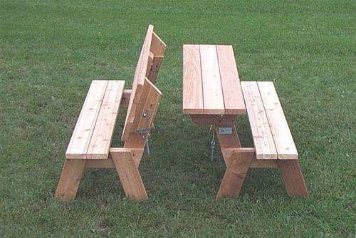 folding bench picnic table plans