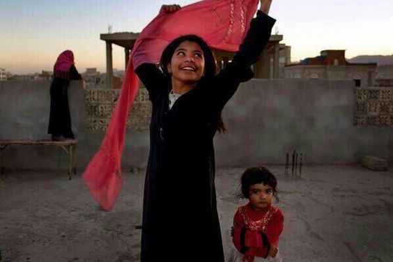 A 10 year old Yemini girl after she was granted divorce from her abusive husband.