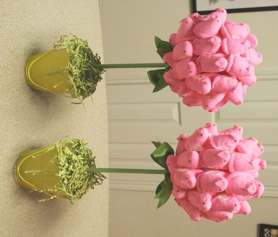 Peep Topiary!! Going to make a few for my Peeps! ;):