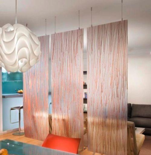 von oben nach unten 10 sch ne ideen f r gardinen als trennwand im innenraum wohnideen. Black Bedroom Furniture Sets. Home Design Ideas