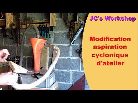 Aspirateur cyclonique d'atelier, modification | DIY, Travail du bois - YouTube