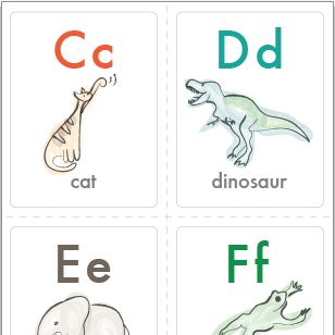 UPPAbaby Creative Corner - Alphabet Cards designed to help with your tot's ABC's!