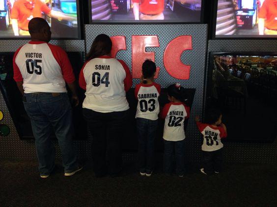 Family team shirts!! Noah's baseball birthday party!!