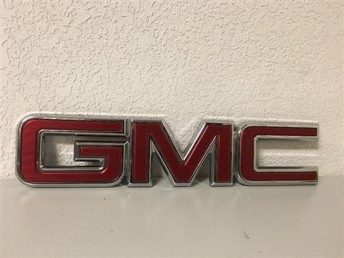 2014 2018 Gmc Sierra Or Canyon Tail Gate Emblem Badge Nameplate Red Oem New Gm Gmc Sierra Gmc Name Plate