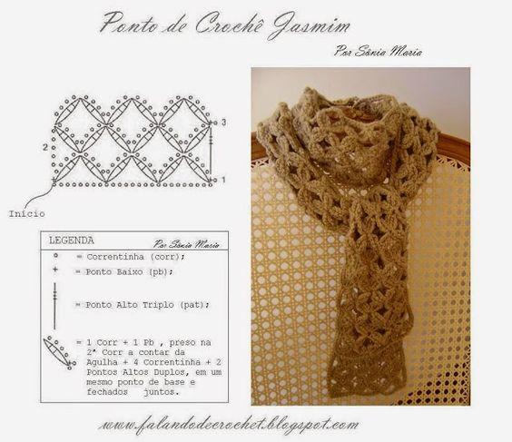 cris arte linhas: Golas de crochê e tricô
