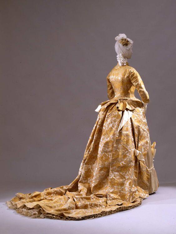 Wedding dress, 1881. From the Galleria del Costume di Palazzo Pitti via Europeana Fashion.
