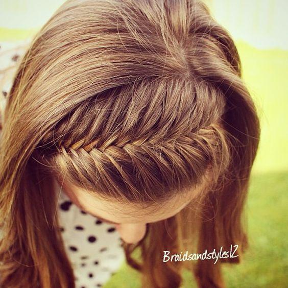 Frenchfishtail Braided Headband / Braided headbands /fishtail /curls