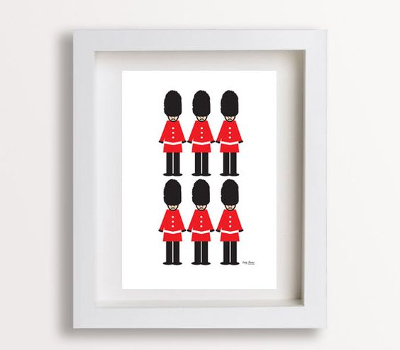 London Guard Toy Soilder Print 8x10 Babies Room Childs Bedroom Wall Art Decor United Kingdom British UK. $20.00, via Etsy.