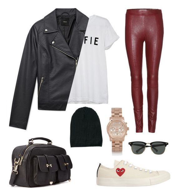 """Untitled #1"" by mandyzng ❤ liked on Polyvore featuring Forever 21, Play Comme des Garçons, Michael Kors, Ray-Ban, Acne Studios and ASOS"