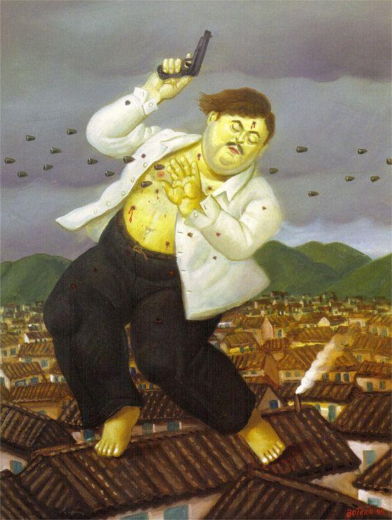 """Fernando Botero, """"La muerte de Pablo Escobar"""" (1999)"""