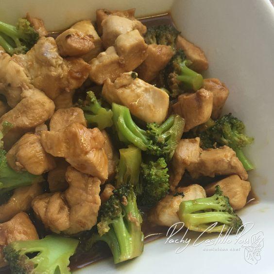 Pollo con brócoli al estilo asiático – Pachy Castillo Pou – Dominican Chef
