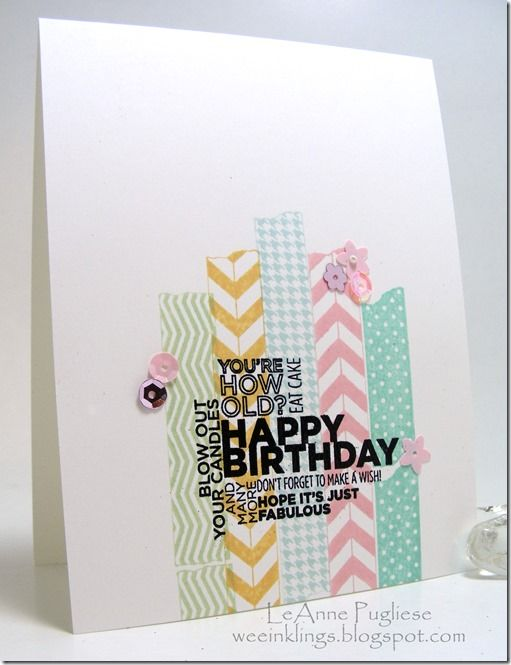 I would not have thought to off center this toward the bottom. Tape It and Delightful Dozen stamp set