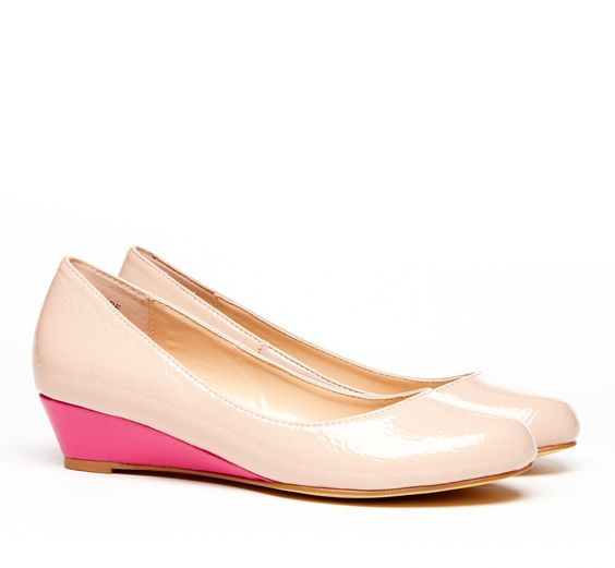I think these are just perfect for me. Small heel, fun color! $ 49.95 | Hope Tonal Mini Wedge via Sole Society