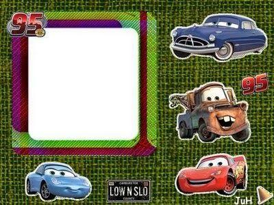 Ideas y material gratis para fiestas y celebraciones Oh My Fiesta!: Invitaciones o Marcos para Fotos de Cars para Imprimir Gratis.