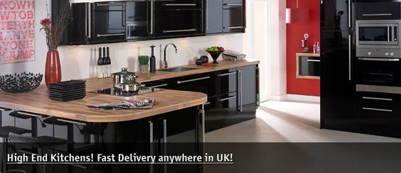 Neptune Black Gloss Kitchen has all the features and styling of a slab door but in a rich gloss black kitchen finish. A definite statement in any home.   Neptune has all the features and styling of Lumi white but in a rich glossblack finish.   Prices start at only £58.46 per unit, that's very good value.