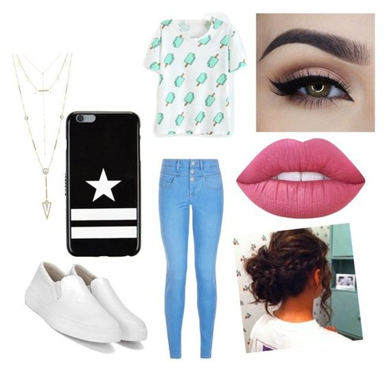 """""""Untitled #437"""" by glamor234 on Polyvore featuring New Look, Givenchy, House of Harlow 1960 and Lime Crime"""