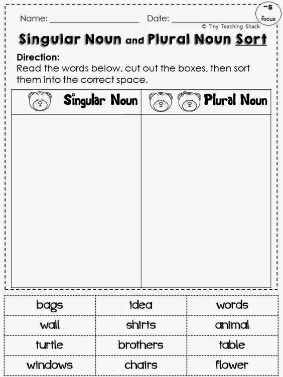 English Worksheets For Grade 1 Singular And Plural Spelling Rule – Irregular Plural Nouns Worksheet 4th Grade