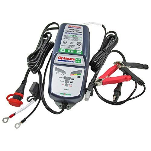 Optimate Tm 291 5 Amp High Power Lifepo4 Lfp Fully Automatic 12 Volt Lithium Battery Charger Maintainer Lithium Battery Charger Battery Charger Lithium Battery