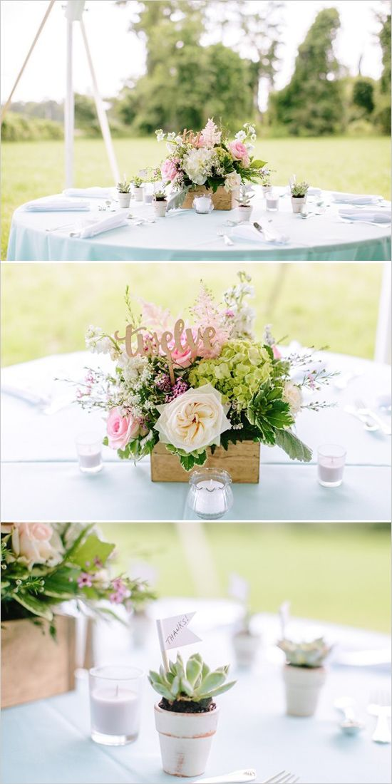 Backyards centerpieces and gold table numbers on pinterest