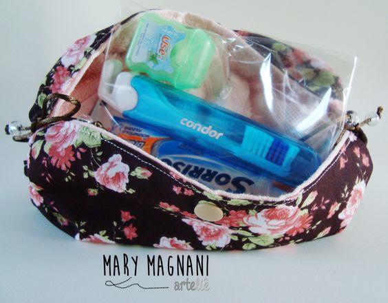 necessaire kit higiene bucal. Mary Magnani Arteliê