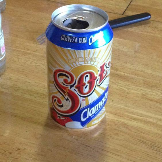 Una buena cerveza con clamato...