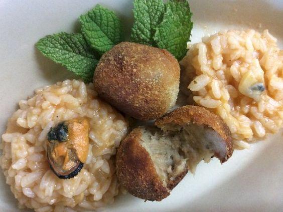 Receita Prato Principal : Croquetes de atum com arroz de mexilhões de Aromas_de_Cor