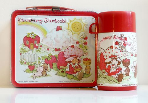 strawberry shortcake metal lunch box. had one.