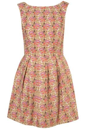 Pink Tulip Pattern Fifties Dress: