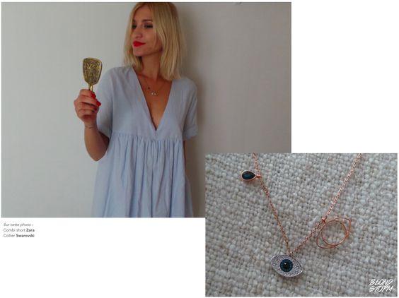 #Swarovski #Collier #Cristaux #Gold #Necklace #Outfit #Mode #Look #LookBook #Fashion #Style #Jumpsuit #Vintage #Retro #Oeil #Diamands