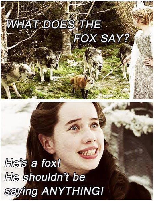 narnia funny pics | funny-Narnia-fox-say-song