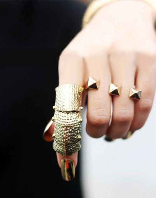 <3: Jewel, Gold Nails, Armour Ring, Gold Rings