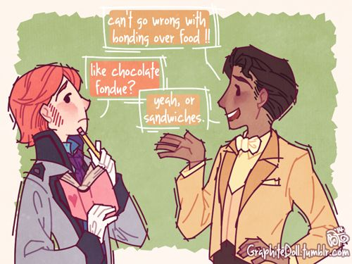 Hans Gets Some Brotips on Girls by graphitedoll. Too cute!